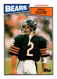 1987 Topps Doug Flutie Rookie Card Chicago Bears - JM Collectibles