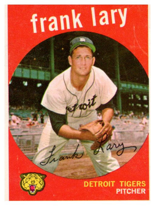 1959 Topps Frank Lary Detroit Tigers - JM Collectibles