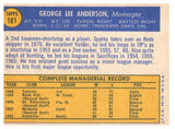 1970 Topps Sparky Anderson Cincinnati Reds Manager Card - JM Collectibles