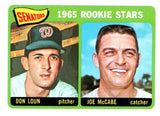 1965 Topps Don Loun Joe McCabe Rookie Stars Washington Senators - JM Collectibles
