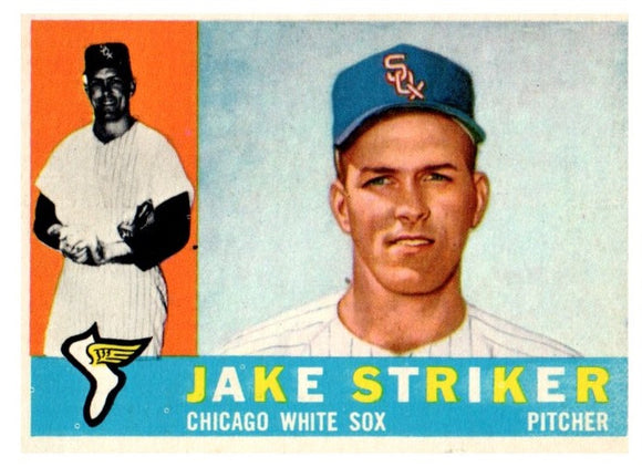 1960 Topps Jake Striker Chicago White Sox - JM Collectibles
