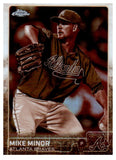 2015 Topps Chrome Mike Minor Sepia Refractor Card Atlanta Braves - JM Collectibles