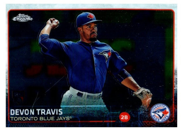 2015 Topps Chrome Devon Travis Rookie Card Toronto Blue Jays - JM Collectibles