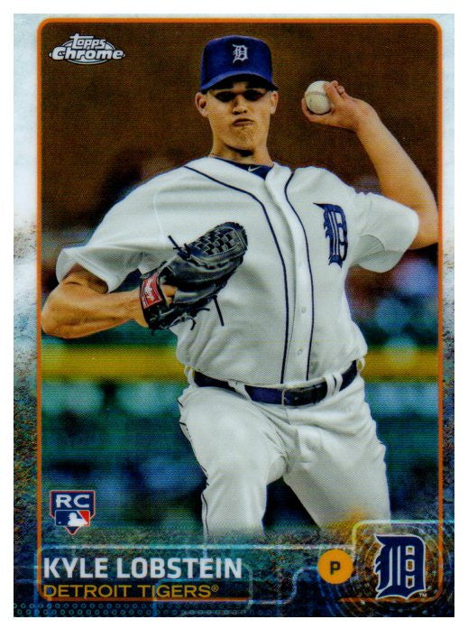 2015 Topps Chrome Kyle Lobstein Rookie Card Detroit Tigers - JM Collectibles