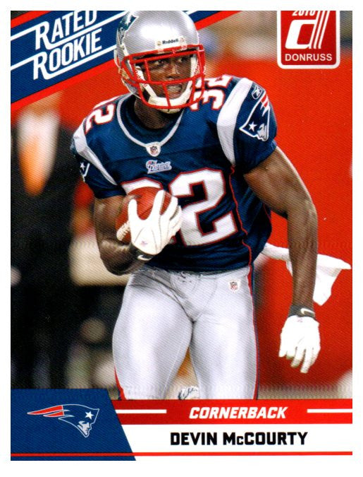 2010 Donruss Devin McCourty Rated Rookie Card New England Patriots - JM Collectibles