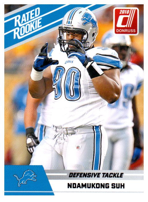 2010 Donruss Ndamukong Suh Rated Rookie Card Detroit Lions - JM Collectibles