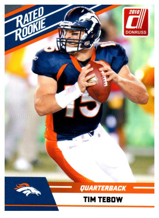 2010 Donruss Tim Tebow Rated Rookie Card Denver Broncos - JM Collectibles