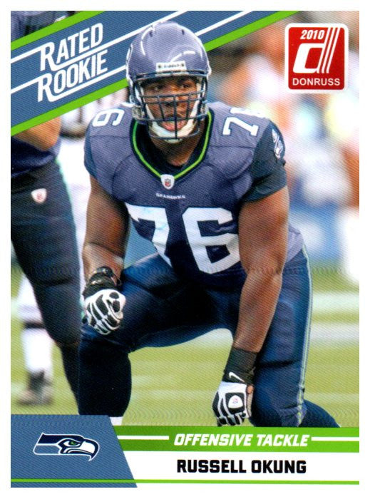 2010 Donruss Russell Okung Rated Rookie Card Seattle Seahawks - JM Collectibles