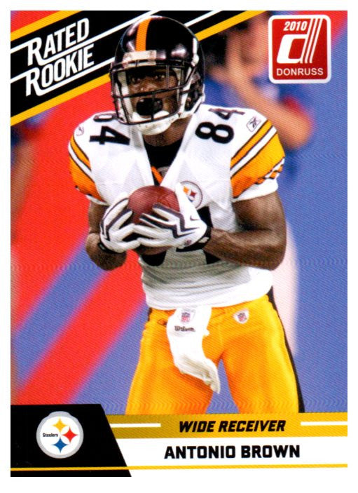 2010 Donruss Antonio Brown Rated Rookie Card Pittsburgh Steelers - JM Collectibles
