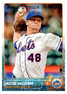 2015 Topps Jacob DeGrom Rookie Card New York Mets - JM Collectibles