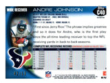 2010 Topps Chrome Andre Johnson Gold Refractor #D/50 Houston Texans - JM Collectibles