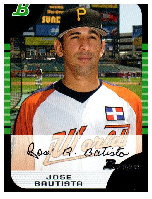 2005 Bowman Jose Bautista Rookie Card Toronto Blue Jays - JM Collectibles