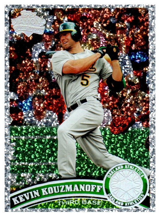 2011 Topps Kevin Kouzmanoff Diamond Anniversary Collection Oakland Athletics - JM Collectibles
