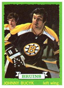 1973 Topps Johnny Bucyk Boston Bruins - JM Collectibles