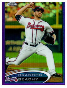 2012 Topps Chrome Brandon Beachy Purple Refractor Atlanta Braves - JM Collectibles
