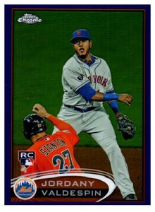 2012 Topps Chrome Jordany Valdespin Purple Refractor New York Mets - JM Collectibles