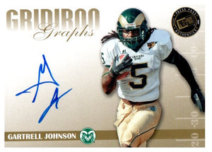 2009 Press Pass Gartrell Johnson Gridiron Graphs Autograph Card New York Giants - JM Collectibles