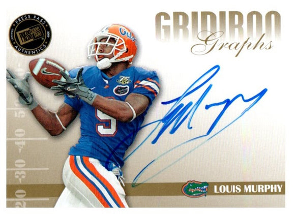 2009 Press Pass Louis Murphy Gridiron Graphs Autograph Tampa Bay Buccaneers - JM Collectibles