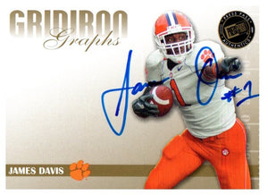 2009 Press Pass James Davis Gridiron Graphs Autograph Mississippi State - JM Collectibles