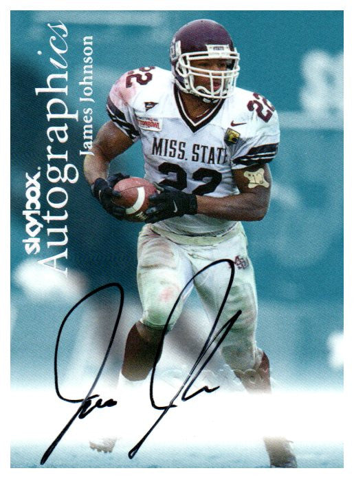 1999 Skybox James Johnson Autograph Card Miami Dolphins - JM Collectibles