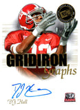 2008 Press Pass DJ Hall Gridiron Graphs Autograph Card New York Giants - JM Collectibles