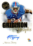 2008 Press Pass Marcus Henry Gridiron Graphs Autograph Card Boise State - JM Collectibles