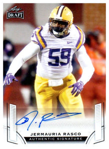 2015 Leaf Draft Jermauria Rasco Rookie Autograph Card Green Bay Packers - JM Collectibles