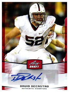 2012 Leaf Draft David DeCastro Rookie Autograph Card Pittsburgh Steelers - JM Collectibles
