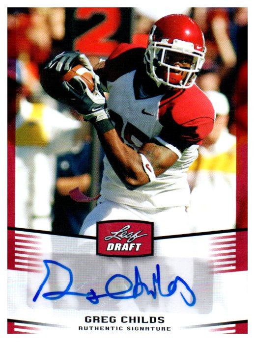 2012 Leaf Draft Greg Childs Rookie Autograph Card Minnesota Vikings - JM Collectibles