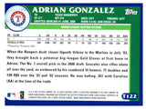 2003 Topps Traded Adrian Gonzalez Prospect Card Texas Rangers - JM Collectibles