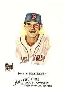 2008 Topps Allen & Ginter Justin Masterson Rookie Card Boston Red Sox - JM Collectibles