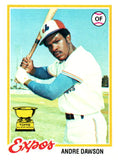 1978 Topps Andre Dawson Montreal Expos - JM Collectibles