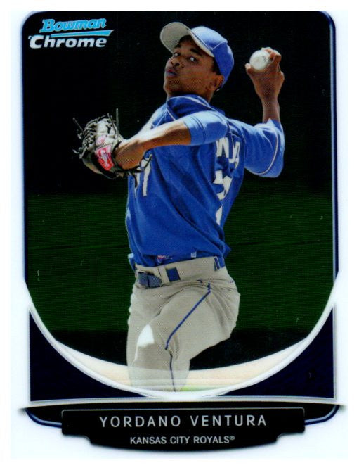 2013 Bowman Chrome Prospect Yordano Ventura Kansas City Royals - JM Collectibles