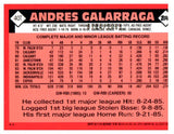 2001 Topps Traded Gold Border Andres Galarraga #D/2001 Montreal Expos - JM Collectibles