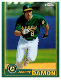 2001 Topps Chrome Traded Retrofractor Johnny Damon Oakland Athletics - JM Collectibles