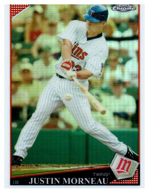 2009 Topps Chrome Refractor Justin Morneau Minnesota Twins - JM Collectibles