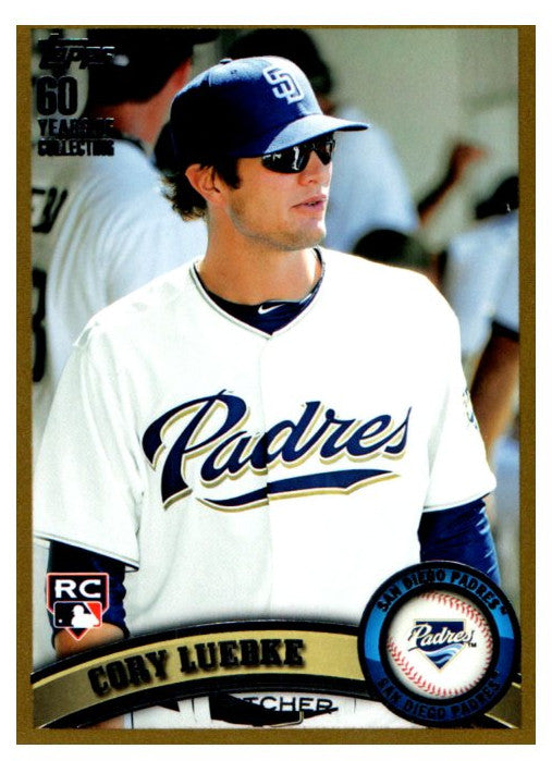 2011 Topps GOLD Cory Luebke Rookie Card San Diego Padres #D/2011 - JM Collectibles