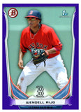 2014 Bowman Prospect Wendell Rijo Purple Paper Boston Red Sox - JM Collectibles