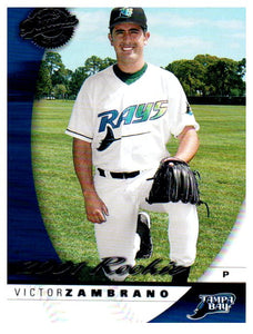 2001 Donruss Victor Zambrano Class Of 2001 Rookie Card #D/1875 Tampa Bay Rays - JM Collectibles