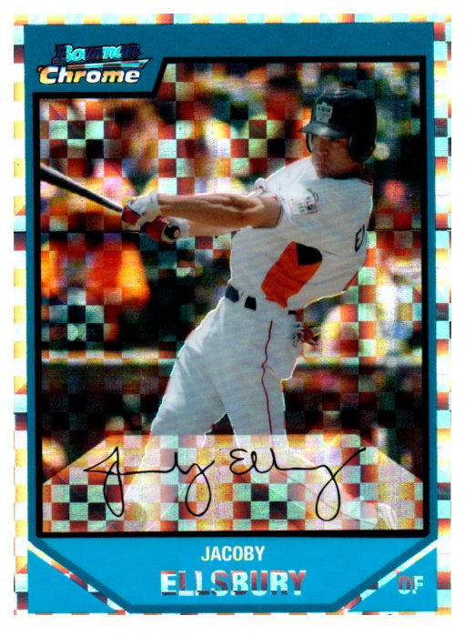 2007 Bowman Chrome Jacoby Ellsbury Rookie Xfractor #D/299 New York Yankees - JM Collectibles