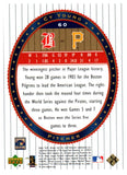 2002 Upper Deck Cy Young World Series Heroes Boston Pilgrams - JM Collectibles