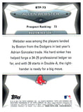 2013 Bowman Top 100 Prospects Allen Webster Boston Red Sox - JM Collectibles