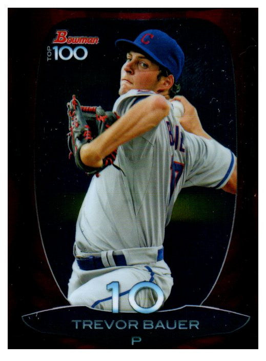 2013 Bowman Top 100 Prospects Trevor Bauer Cleveland Indians - JM Collectibles
