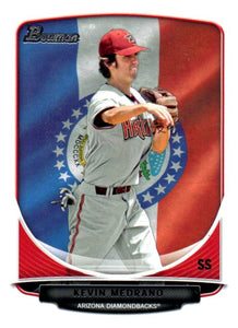 2013 Bowman Prospects Kevin Medrano Hometown Flag Arizona Diamondbacks - JM Collectibles