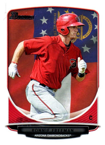 2013 Bowman Prospects Ronnie Freeman Hometown Flag Arizona Diamondbacks - JM Collectibles