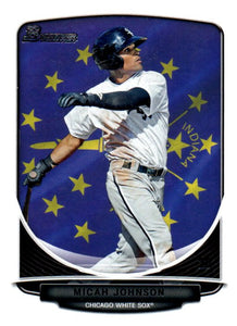 2013 Bowman Prospect Micah Johnson Hometown Flag Chicago White Sox - JM Collectibles