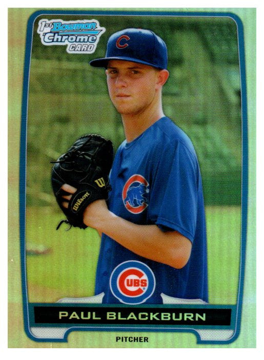 2013 Bowman Chrome Draft Paul Blackburn Refractor Chicago Cubs - JM Collectibles