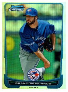 2012 Bowman Chrome Brandon Morrow Refractor Toronto Blue Jays - JM Collectibles