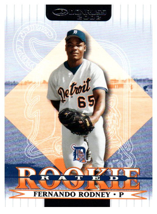 2002 Donruss Fernando Rodney Rated Rookie Card Detroit Tigers - JM Collectibles