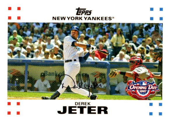 2007 Topps Opening Day Derek Jeter New York Yankees - JM Collectibles